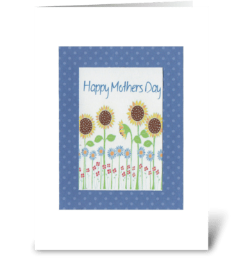 Summer Flowers Mother's Day greeting card