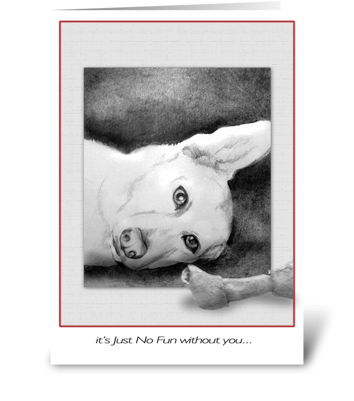 Silly Dog, Get Well greeting card
