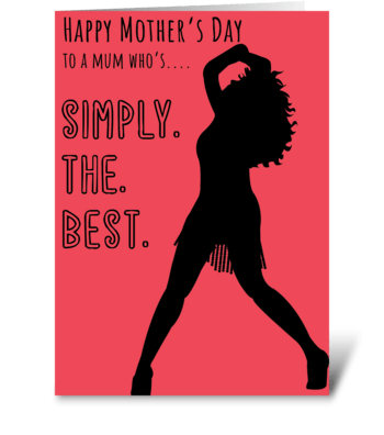Simply The Best Mum greeting card