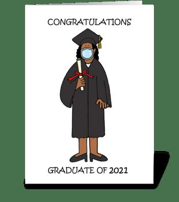Congratulations Graduate 2021 Female greeting card