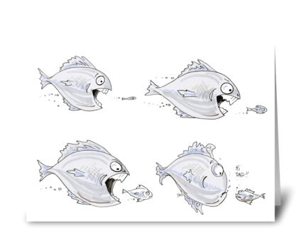 Dad fish greeting card