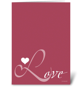 LOVE Romantic Greeting Card greeting card