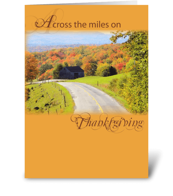 4002 Across Miles at Thanksgiving greeting card