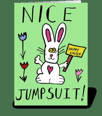 Nice Jumpsuit greeting card
