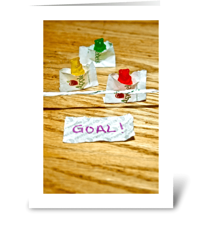 GOAL! greeting card