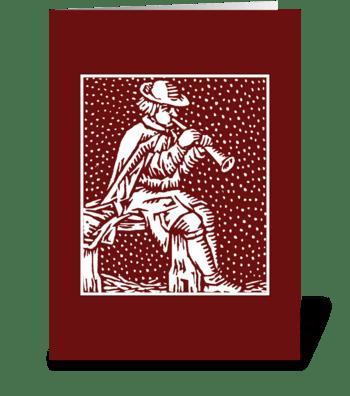 minstrel greeting card
