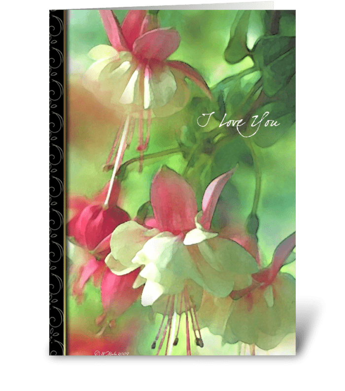 Spring Blossoms Romantic Card greeting card