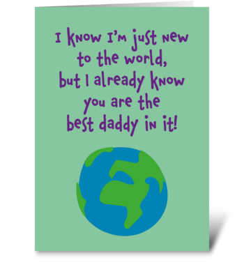 124 Best Daddy In The World greeting card