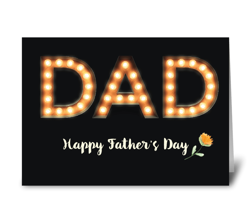 From All of Us, Dad, Father's Day greeting card