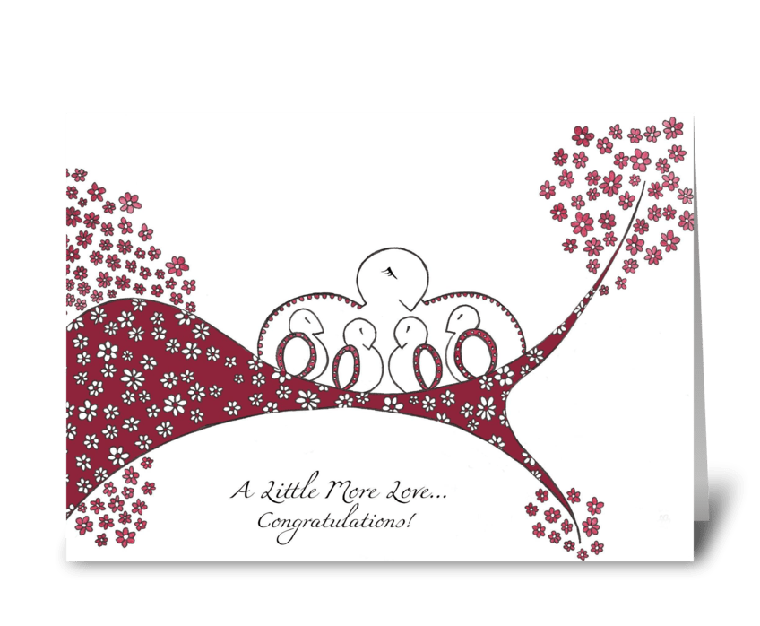 Seasons of Love (Spring) greeting card