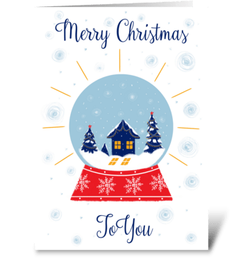 Christmas Snow Ball  greeting card