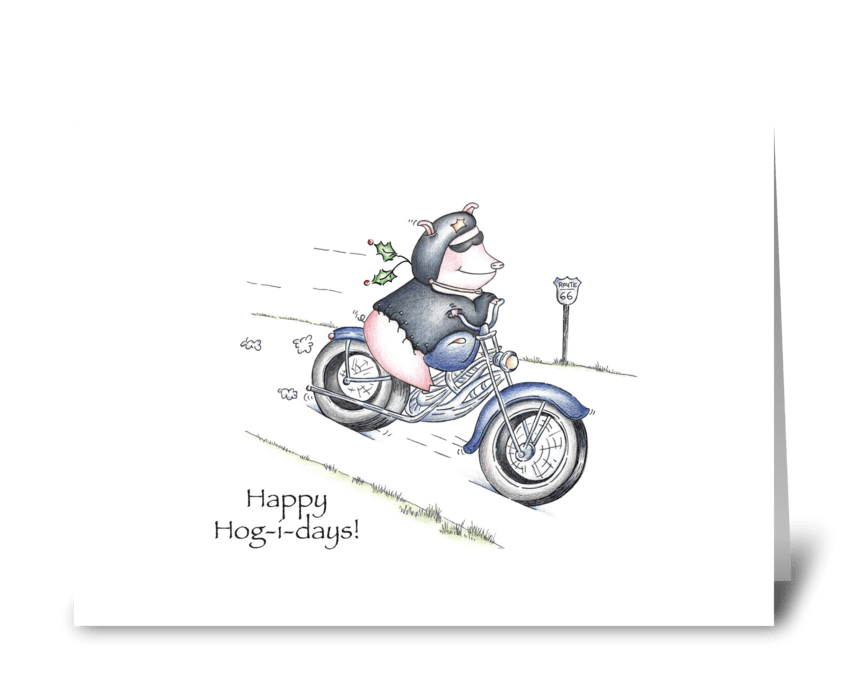 Happy Hog-i-days greeting card