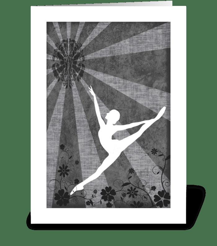 Ballet Series 3 greeting card