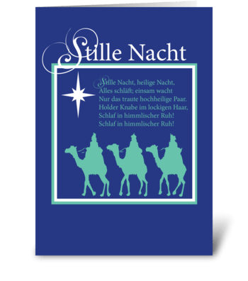 Stille Nacht Christmas - German greeting card