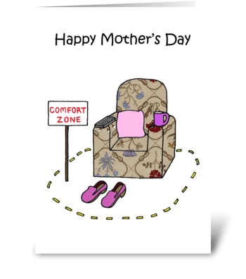 Mother's Day fun armchair. greeting card