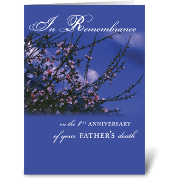 Father, Remembrance 1st Anniversary greeting card