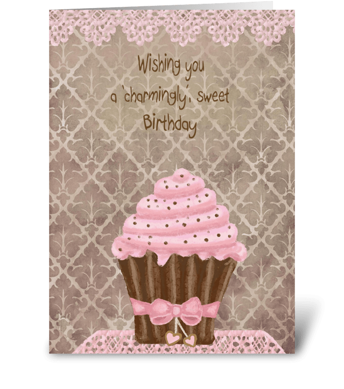 'Charmingly' Sweet Birthday  greeting card