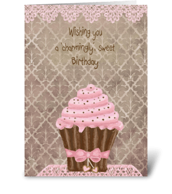 'Charmingly' Sweet Birthday  greeting card