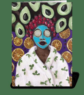 Fruit Spa greeting card