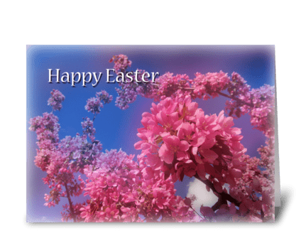 Happy Easter blossom greeting card