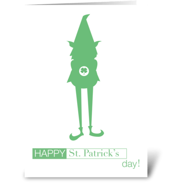 St. Patricks Day Gnome greeting card