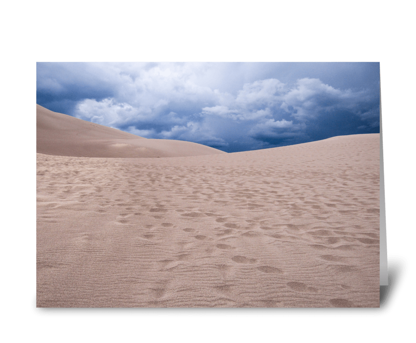 Dark Clouds Over Great Sand Dunes Nation greeting card
