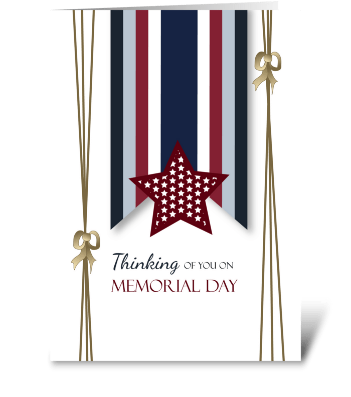 From All of Us Memorial Day Ribbon Stars greeting card