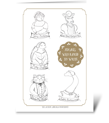 The Author Animalia Collection: Females greeting card