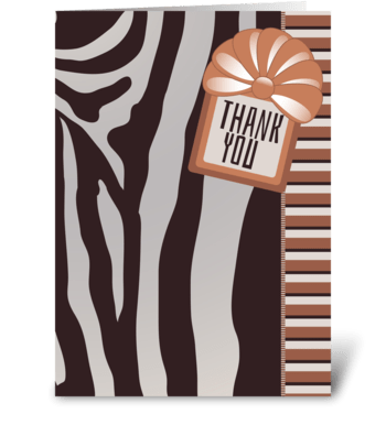 Thank You Zebra Stripes - From Group greeting card