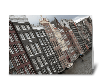 Buildings In Amsterdam greeting card