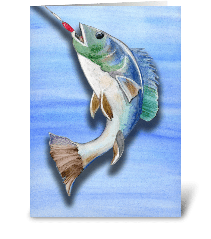 Father's Day Fish Lover greeting card