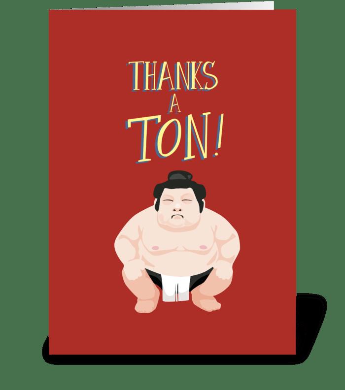 Sumo greeting card