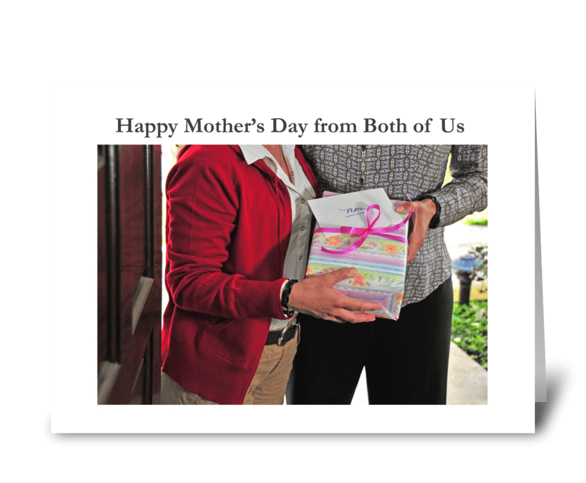 Happy Mother's Day from Both of Us greeting card
