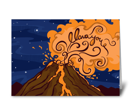 I lava You greeting card