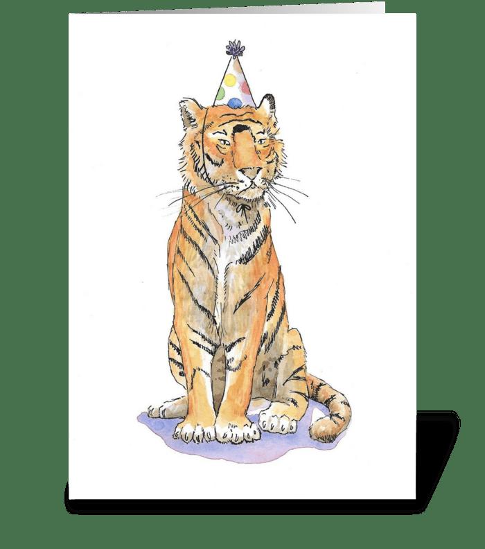 Tiger Party Animal greeting card