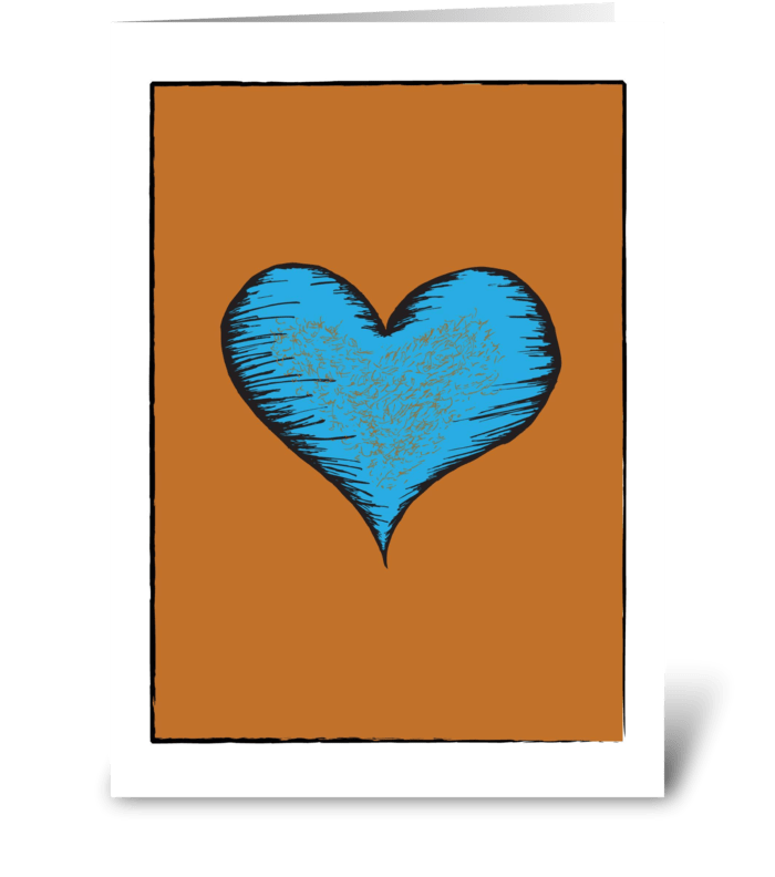 Hairy Heart greeting card