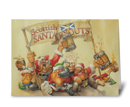 Scottish Christmas greeting card