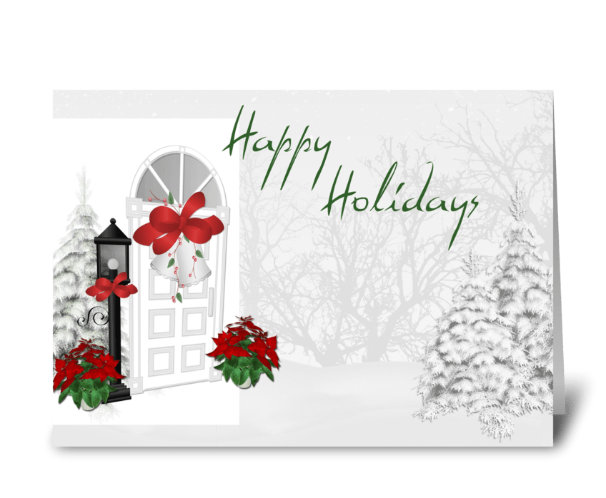 Holiday Front Door greeting card