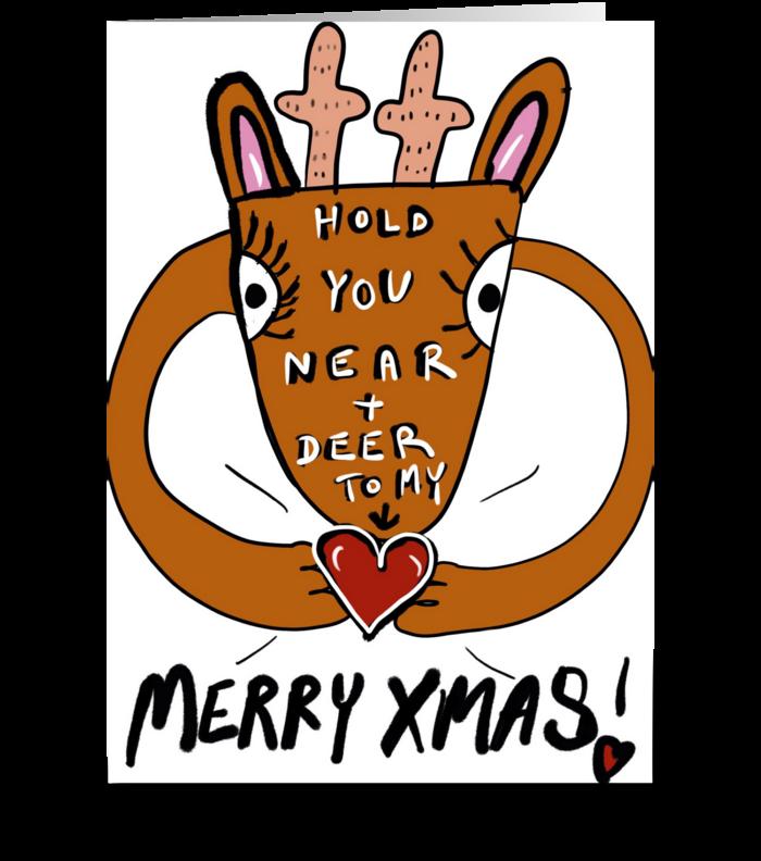 Reindeer Hugs greeting card