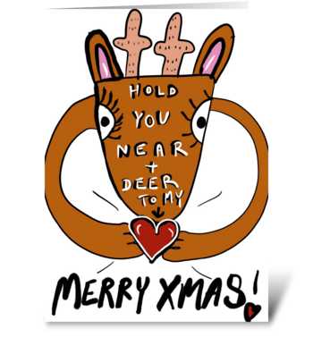 Reindeer Hugs greeting card