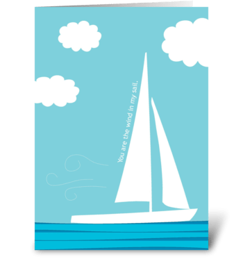 Wind in my Sail greeting card