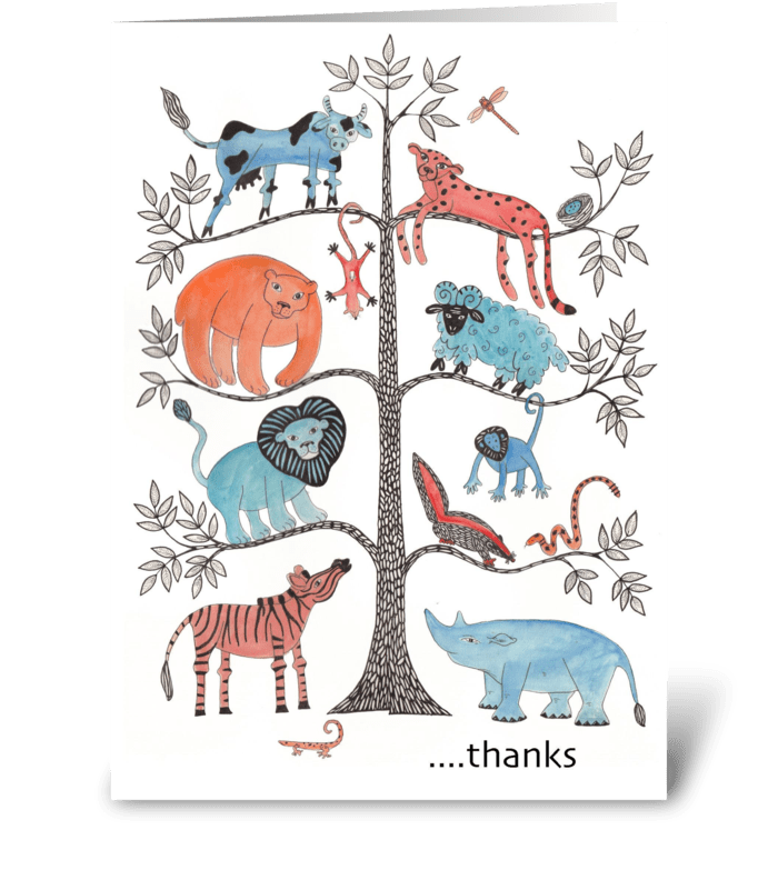tree of life thank you greeting card