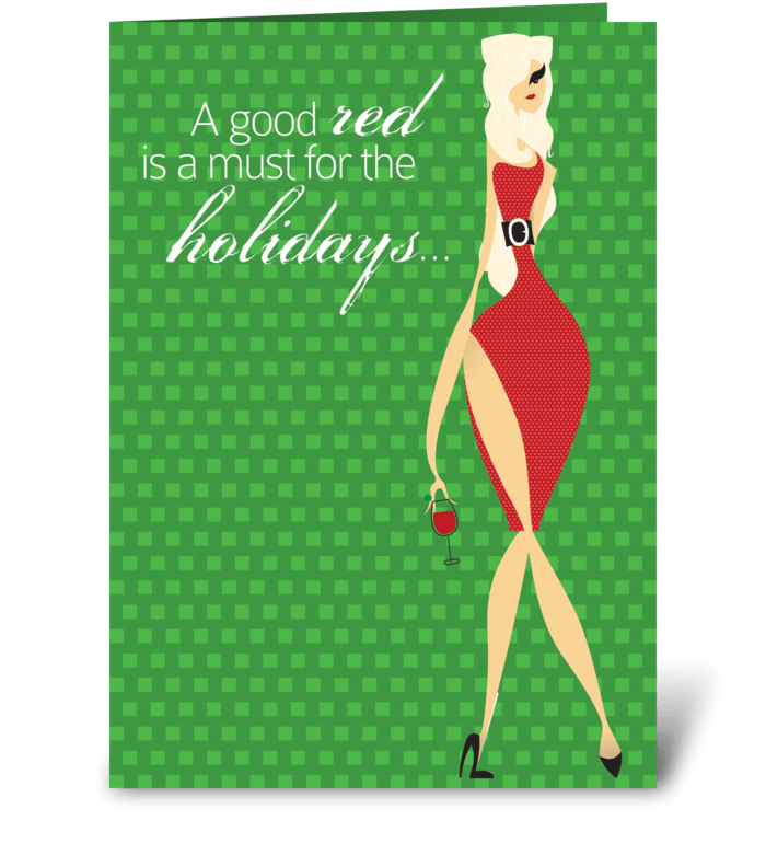 Jolly Christmas greeting card