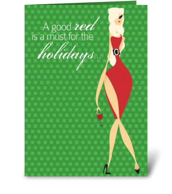 Jolly Christmas greeting card