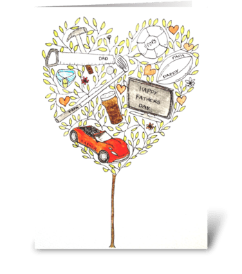 Happy Fathers Day Tree greeting card