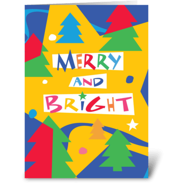 Christmas Trees and Stars greeting card