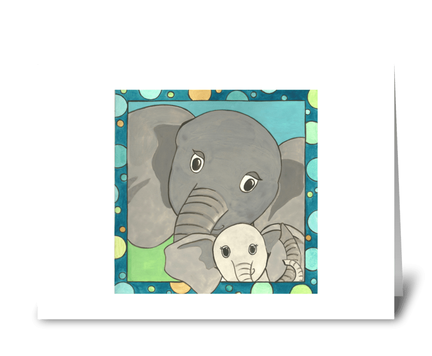 Elliot's Elephants greeting card