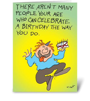 Celebrate a Birthday greeting card