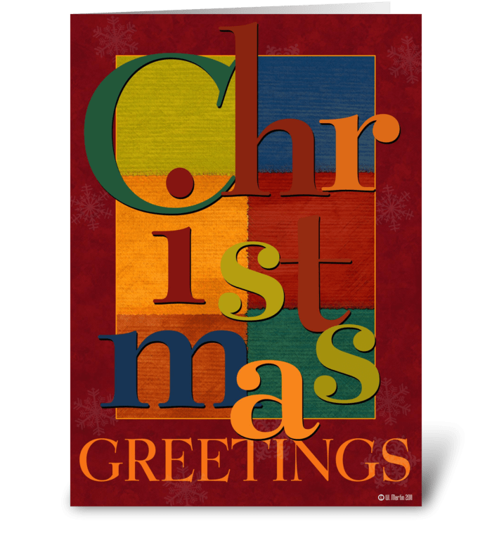 Christmas Scramble Christmas Card greeting card