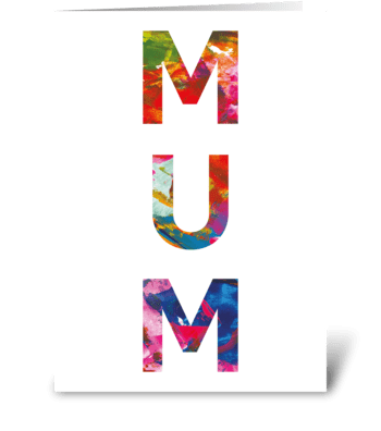 Mum Card, Mother's Day, Birthday greeting card